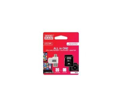 Фотография 2 карты памяти GoodRam UHS-I MicroSDHC Class 10 8GB + SD-adapter + OTG Card reader - M1A4-0080R11