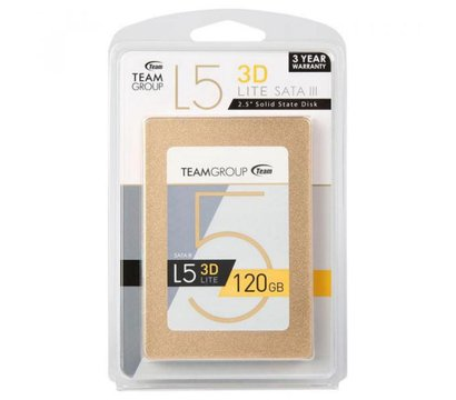 Фото №3  SSD Team L5 LITE 120GB SATA III 3D V-NAND TLC — T253TD120G3C101