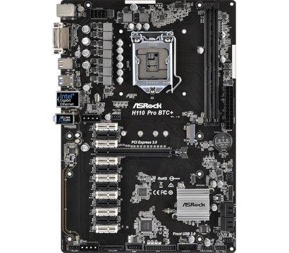Фото №1 материнской платы ASRock H110 PRO BTC+ (s1151, Intel H110, PCI-Ex16)