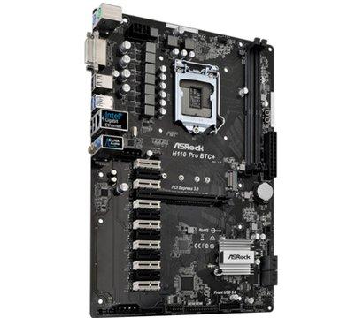 Фото №3 материнской платы ASRock H110 PRO BTC+ (s1151, Intel H110, PCI-Ex16)