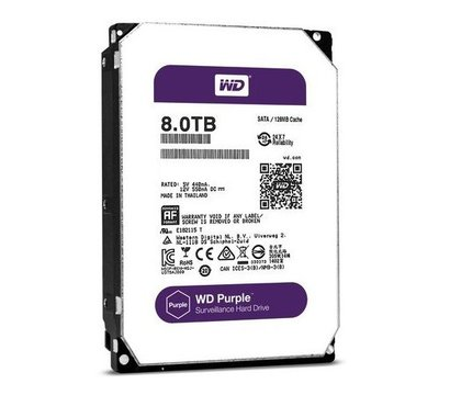 Фото жесткого диска Western Digital Purple 8TB 5400rpm 256MB Buffer 3.5 SATA III — WD81PURZ