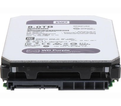 Фото №1 жесткого диска Western Digital Purple 8TB 5400rpm 256MB Buffer 3.5 SATA III — WD81PURZ