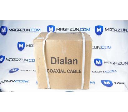 Фото №1 коаксиального кабеля Dialan RG-59+2x0.5 черн. 305м.