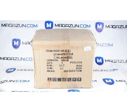 Фото №1 коаксиального кабеля Ritar W305-RG690+2x0.5mm CCA White / 305м