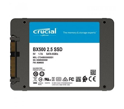 Фото №1  SSD Crucial BX500 120GB 2.5 SATA III TLC — CT120BX500SSD1