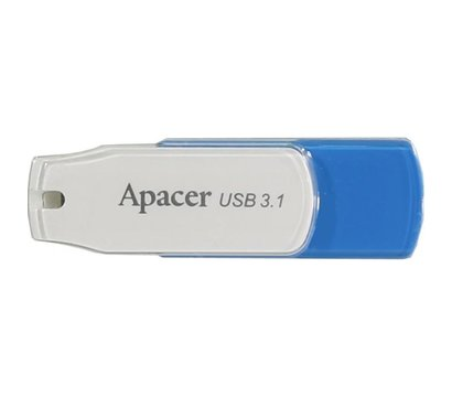 Фото USB флешки Apacer AH357 USB 3.1 32Gb Blue/White - AP32GAH357U-1