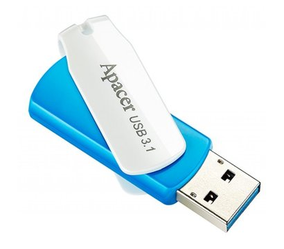 Фото №5 USB флешки Apacer AH357 USB 3.1 32Gb Blue/White - AP32GAH357U-1