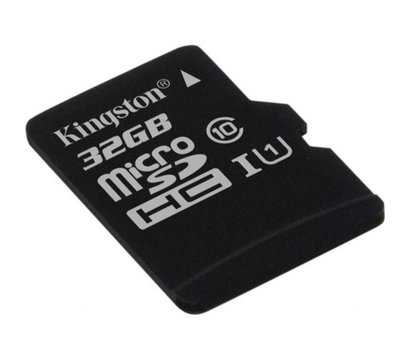Фото №1 карты памяти Kingston Canvas microSDHC Class10 32GB - SDCS/32GBSP
