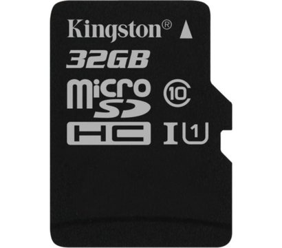 Фото карты памяти Kingston Canvas microSDHC Class10 32GB - SDCS/32GBSP
