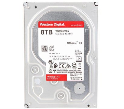 Фото жесткого диска Western Digital Red Pro 8TB 7200rpm 256MB 3.5 SATA III — WD8003FFBX