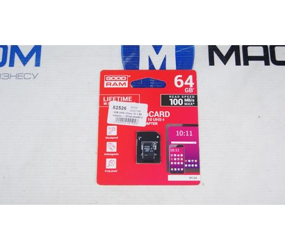 Фото №1 карты памяти GoodRam MicroSDXC 64GB UHS-I Class 10 + SD-adapter — M1AA-0640R12