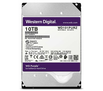 Фото жесткого диска Western Digital Purple 10TB 5400rpm 256MB Buffer 3.5 SATA III — WD101PURZ