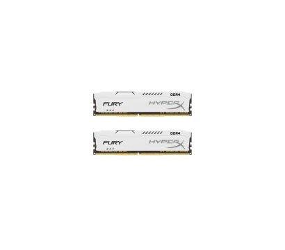 Фото №1 модуля памяти Kingston HyperX Fury White DDR4 2x8192Mb 2400MHz — HX424C15FW2K2/16