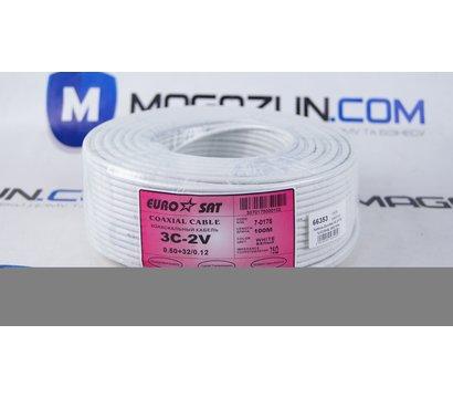 Фото №1 коаксиального кабеля EuroSat 3C-2V/32%/CCS+AL-MG/100м