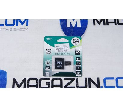 Фото №1 карты памяти Apacer UHS-I microSDHC Class10 64GB - AP64GMCSX10U1-R