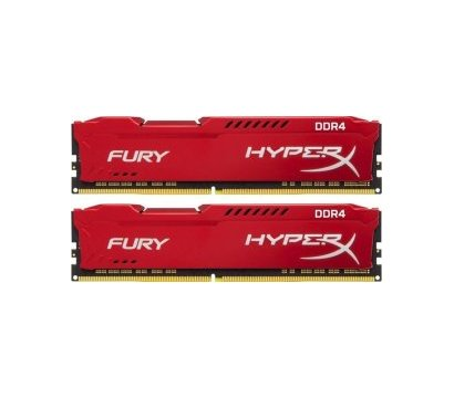 Фото модуля памяти Kingston HyperX Fury Red DDR4 2x16384Mb 3200Mhz — HX432C18FRK2/32