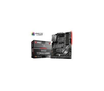Фото материнской платы MSI B450 Tomahawk (sAM4, AMD B450, PCI-Ex16)