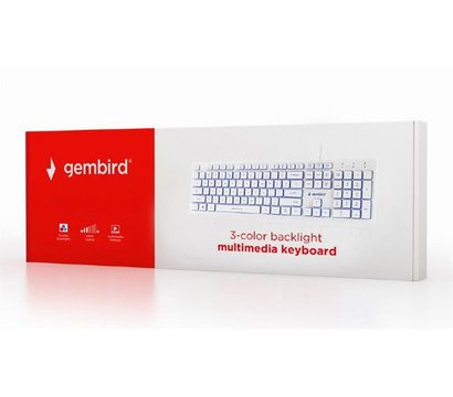 Фото №3 клавиатуры Gembird KB-UML3-01-W-RU USB White
