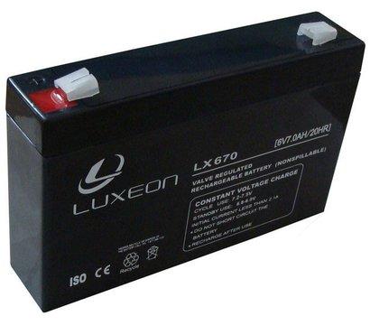 Фото аккумулятора Luxeon LX 670, 6В, 7.0 Ач