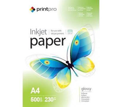 Фото фотобумаги PrintPro 230г/м2 A4 500л - PGE230500A4