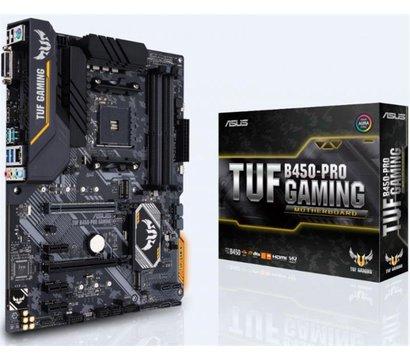 Фото материнской платы Asus TUF B450-Pro Gaming (sAM4, AMD B450, PCI-Ex16)