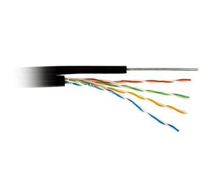 Фото кабеля ATcom FTP 5е 4х2х0,50 CCA с тросом (ал+медь) 305м