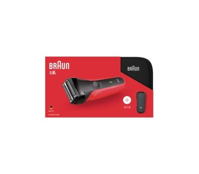 Фото №1 бритвы Braun Series 3 300TS Red + чехол
