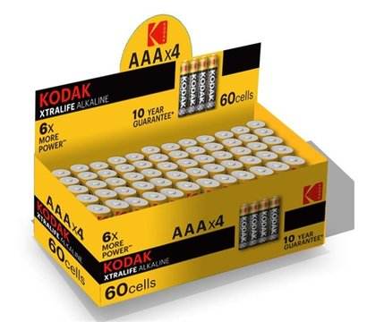 Фото №1 батарейки Kodak XtraLife AAA/LR03 уп. 4шт, коробка
