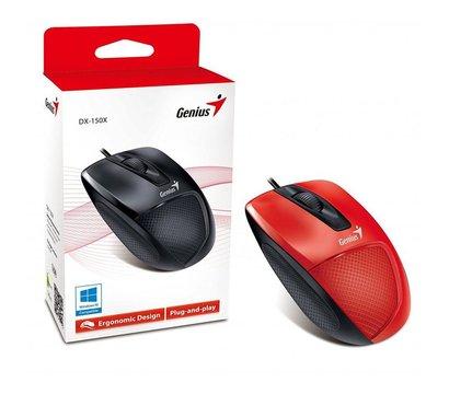 Фото №2 компьютерной мышки Genius DX-150X USB Red/Black — 31010231101