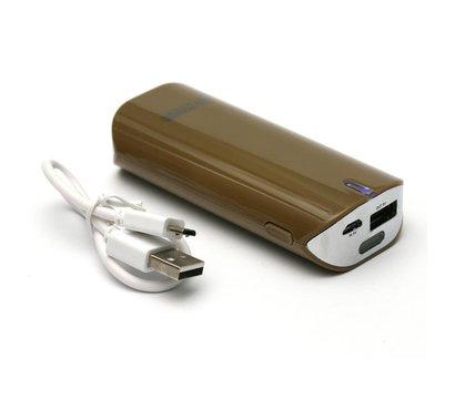 Фото №2 универсальной мобильной батареи PowerPlant PB-LA9005 5200mAh Brown
