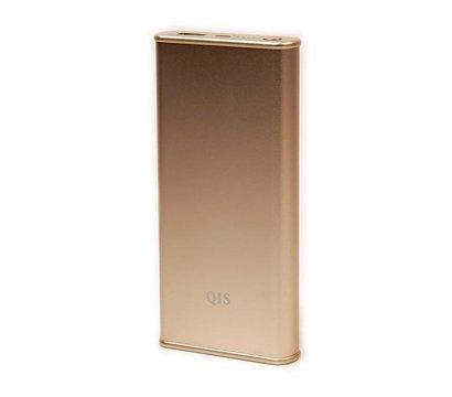 Фото №2 универсальной мобильной батареи PowerPlant Q1S Quick-Charge 2.0 10200mAh Gold
