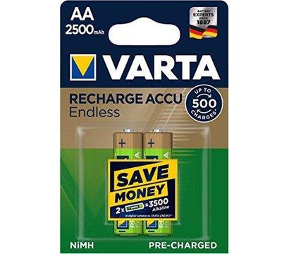 Фото №2 батарейки Varta Rechargeable Accu Endless AA/LR06 2500 mAh BL 2 шт