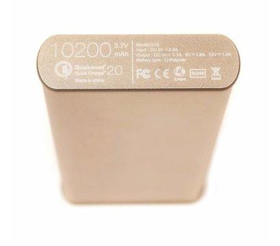 Фото №4 универсальной мобильной батареи PowerPlant Q1S Quick-Charge 2.0 10200mAh Gold