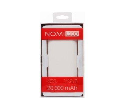 Фото №5 универсальной мобильной батареи Nomi L200 20000mAh White