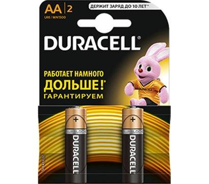 Фото батарейки Duracell Basic AA/LR06 BL 2шт