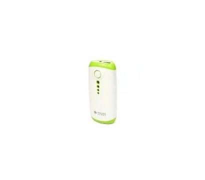 Фото универсальной мобильной батареи PowerPlant PB-LA9210 5200mAh White/Green