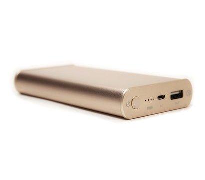 Фото универсальной мобильной батареи PowerPlant Q1S Quick-Charge 2.0 10200mAh Gold