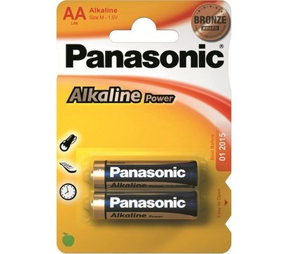 Фото батарейки Panasonic Alkaline Power AA/LR06 BL 2 шт
