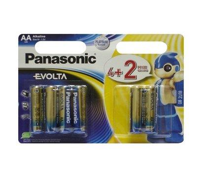 Фото батарейки Panasonic Evolta AA/LR06 BL 4+2 шт