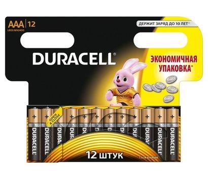 Фото батарейки Duracell Basic AAA/LR03 BL 12шт