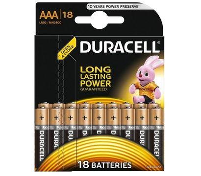 Фото батарейки Duracell Basic AAA/LR03 BL 18шт