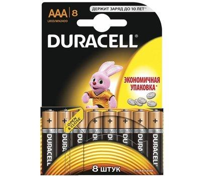 Фото батарейки Duracell Basic AAA/LR03 BL 8шт
