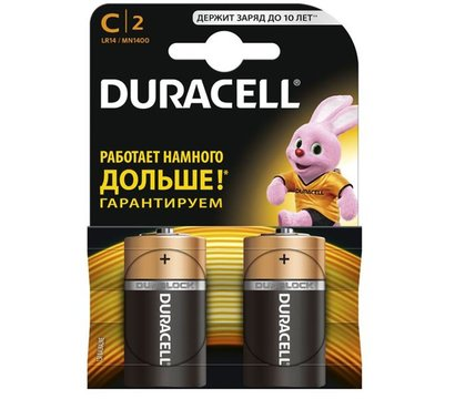 Фото батарейки Duracell Basic C/LR14 BL 2 шт