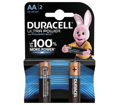 Фото батарейки Duracell Ultra Power AA/LR06 BL 2шт