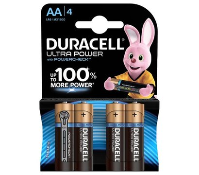 Фото батарейки Duracell Ultra Power AA/LR06 BL 4шт