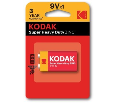 Фото батарейки Kodak Longlife 6F22 BL 1шт