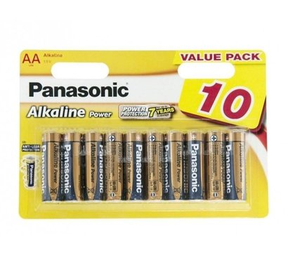 Фото батарейки Panasonic Alkaline Power AA/LR06 BL 10 шт