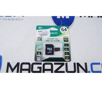 Фото №1 карты памяти Apacer microSDXC Class 10 64GB + SD adapter - AP64GMCSX10U5-R