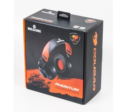 Фото №5 наушника Cougar Phontum World of Tanks Black-Orange