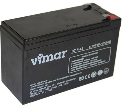 Фото аккумулятора VIMAR B7.5-12